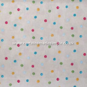 Country Spot - Chintz - Colourful spots on light grey fabric