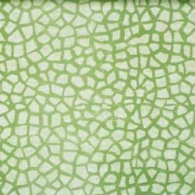 Lizzie - Lime - Lime green fabric with mosaic pattern