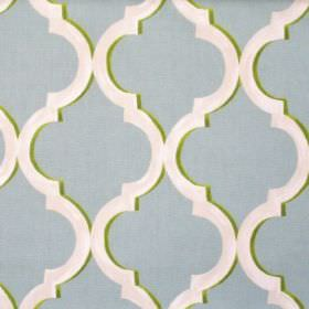 Avebury - Duck Egg - Duck egg blue fabric with classic decorative pattern