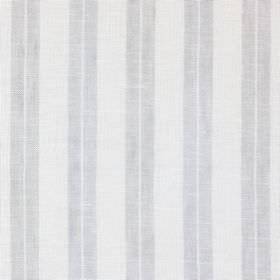 Ben Nevis - Chrome - Two pale shades of grey making up a simple striped pattern on fabric blended from linen, cotton and polyester