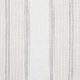Kilimanjaro - Parchment - Grey, beige and off-white coloured fabric with a linen, cotton and polyester blend and a repeated stripe design