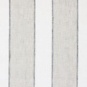 Annapurna - Stone - Vertically striped linen-cotton-polyester blend fabric in light grey-beige, dark grey and off-white