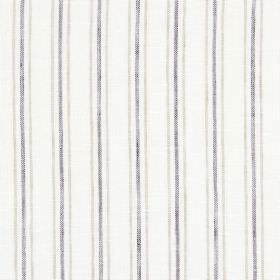 Andes - Stone - Linen-cotton-polyester blend fabric in off-white, patterned with vertical lines in dark grey and grey-beige