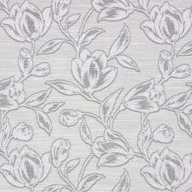 Hepburn - Silver - Two different shades of grey making up the floral pattern on this cotton fabric