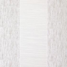 Capulet - Pearl - Silvery white and grey striped fabric made from cotton, with some stripes being slightly streaked