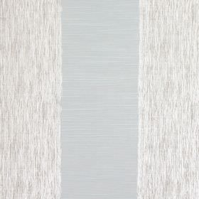 Capulet - Azure - Wide bands of streaked grey and white cotton fabric between wide light blue coloured stripes