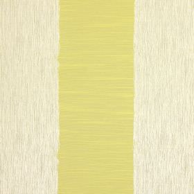 Capulet - Eucalyptus - Striped cotton fabric featuring wide bands of olive green and white streaked with grey