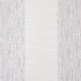 Capulet - Silver - Some streaking as a pattern on alternate silver coloured stripes on this cotton fabric