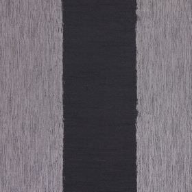 Capulet - Graphite - Black and grey striped cotton fabric, with streaks within the grey bands