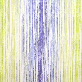 Azura - Azure - 100% cotton fabric covered with rough, vertical lines in white, as well as various shades of blue and green