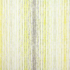 Azura - Sulphur - Rough vertical lines in white, grey and olive green on 100% cotton fabric