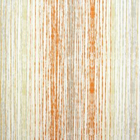 Azura - Mandarin - 100% cotton fabric featuring a design of many rough vertical lines in shades of orange, white, grey and green-gold