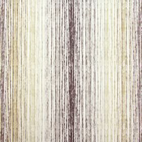 Azura - Tabacco - Rough vertical lines in various shades of grey and green-beige on fabric made from white cotton