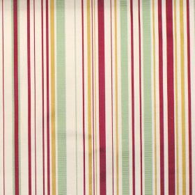 Tilly - Antique - Antique orange and red stripes on white fabric