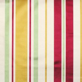 Zoe - Antique - Antique yellow and red stripes on white fabric