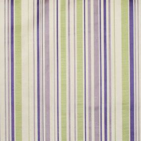 Tilly - Lavender - Lavender purple and green stripes on white fabric