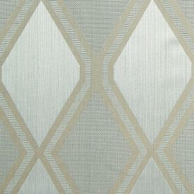 Tetra - Duck Egg - Duck egg blue fabric with light grey diamond patterns