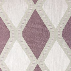 Tetra - Lavender - Light sandy fabric with lavender purple diamond patterns