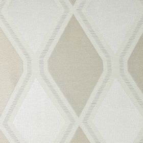 Tetra - Champagne - White fabric with champagne gold diamond patterns