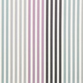 Freeway - Duck Egg - Striped duckegg blue and light purple fabric