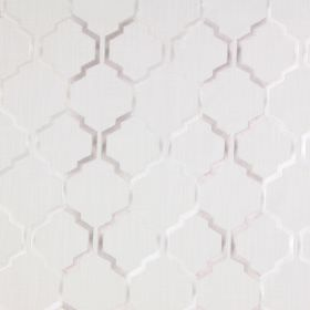 Helix - Champagne - Light sandy fabric with a champagne white modern chain pattern