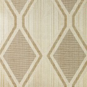 Tetra - Linen - Light gold fabric with linen brown diamond patterns