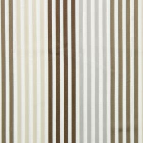 Freeway - Linen - Linen sandy and brown striped fabric