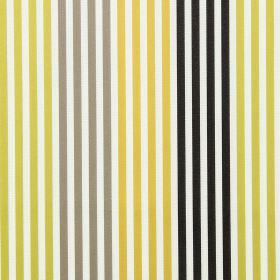 Freeway - Lime - Lime green and orange striped fabric