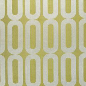 Circuit - Lime - Modern lime green fabric with white vertical chains