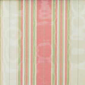 Kinross - Candy - Light green, salmon pink and white making up the striped pattern for this fabric