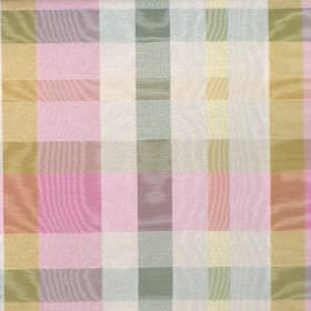 Aberdeen - Sorbet - Checked cotton fabric which shimmers in pink, green, blue and white