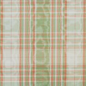 Selkirk - Peppermint - Light green, pink-red and white making up the checked pattern for this shimmering cotton fabric