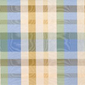 Aberdeen - Summer - A shimmering checked pattern in gold, blue, green and cream on cotton fabric