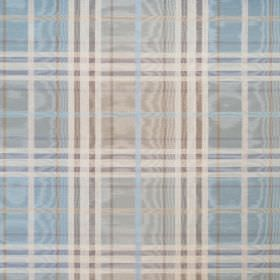 Stirling - Porcelain - A regular checked pattern on shimmering cotton fabric in pale shades of grey, blue and off-white