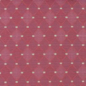 Inverness - Garnet - Small pink diamonds filled with plain and patterned pink and purple colours with small white-grey squares on cotton fabri
