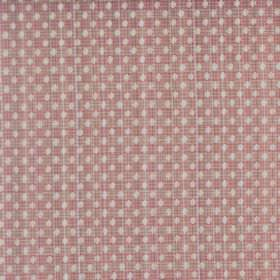 Arbroath - Rose - Subtle white dots patterning a semi-plain light pink coloured fabric blended from a combination of cotton and polyester