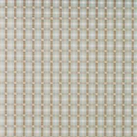 Wick - Mineral - Cotton fabric with a very small, simple checked pattern in duck egg blue, grey and grey-green
