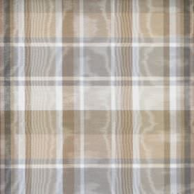 Clyde - Cafe - Shimmering fabric made from cotton, featuring a checked design in grey and different shades of brown and beige