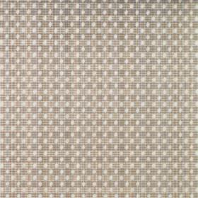 Arbroath - Dune - Rows of white dots on a grey and brown checked fabric