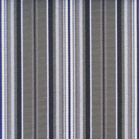 Dunbar - Pewter - Cotton fabric with a repeated pattern of stripes in black, white and different shades of grey
