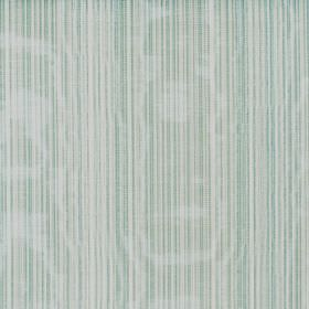 Fife - Lichen - Light blue, light green and white striped fabric made from shimmering cotton