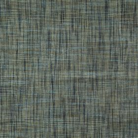 Hawes - Topaz - Horizontally and vertically streaked fabric made from polyester and viscose in cool, classic shades of blue and grey