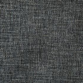 Malton - Charcoal - Light grey threads running through fabric woven from a blend of polyester and viscose in raven black
