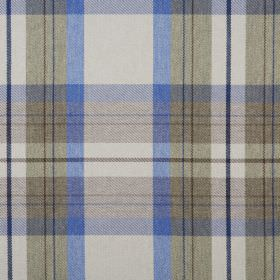 Cairngorm - Loch - Several different shades of grey and blue making up a checked pattern on fabric made from 100% polyester