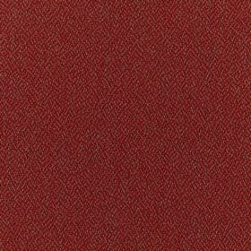 Harrison - Auburn - Dark scarlet coloured 100% polyester fabric which has been speckled with a lighter cream-orange colour