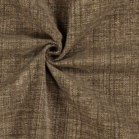 Himalayas - Nutmeg - Plain dark brown fabric with a polyester, acrylic and viscose blend