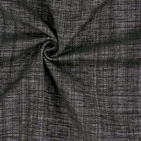 Himalayas - Charcoal - Slate coloured polyester, acrylic and viscose blend fabric which features a few lighter grey coloured threads