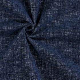Himalayas - Navy - Denim blue coloured fabric made with a polyester, acrylic and viscose blend