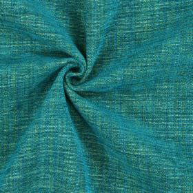 Himalayas - Kingfisher - Fabric with a 62% polyester, 33% acrylic and 5% viscose content featuring various shades of green and blue