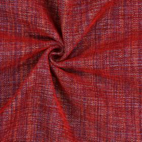 Himalayas - Jewel - Red, purple and orange threads woven together into a polyester-acrylic-viscose blend fabric